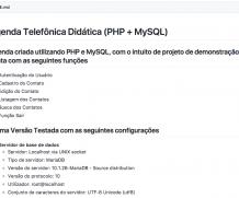 Agenda Telefônica Didática (PHP + MySQL)