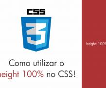 Entenda de uma vez por todas como utilizar o height 100% no CSS